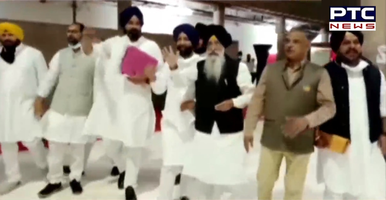 Punjab budget session 2021: Proceedings for third day of Punjab Vidhan Sabha started with a commotion in Vidhan Sabha by the opposition.