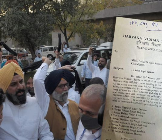 FIR against 9 SAD MLAs including Bikram Majithia for supporting farmers