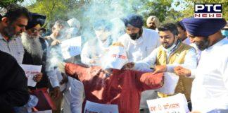 Punjab Budget Session 2021: SAD burns effigy of Punjab govt outside Vidhan Sabha