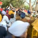 SAD MLAs Protest outside Vidhan Sabha before Punjab Budget, Police use water cannons