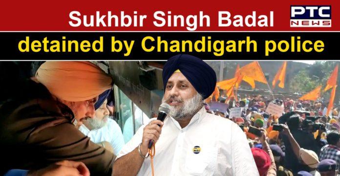 Sukhbir Singh Badal, other SAD leaders detained for marching towards Punjab Vidhan Sabha