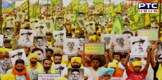 Farmers and mazdoor in huge number gather to pay tribute to Bhagat Singh, Rajguru and Sukhdev