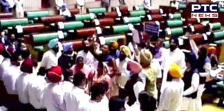 SAD MLAs raise slogans in Punjab Vidhan Sabha; suspended