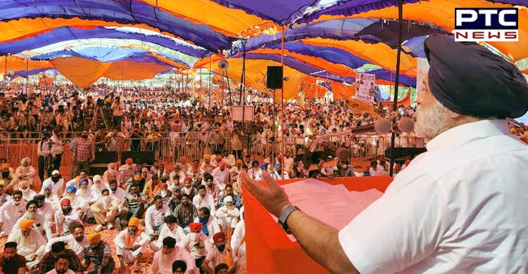 Shiromani Akali Dal President Sukhbir Singh Badal Amarpal Singh Bony Ajnala as a candidate from Ajnala for the Punjab Assembly Elections 2022.