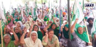 Farmers protest : Women leading the farmers' dharna in Punjab