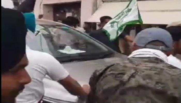 Attack on Nayab Saini Vehicle