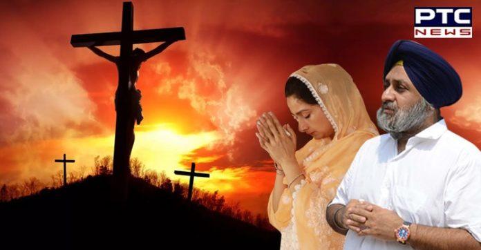 Good Friday: Sukhbir Badal, Harsimrat Kaur remember sacrifices of Jesus Christ