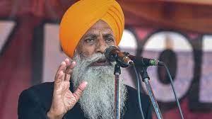 Gurnam Singh Charuni at Sachkhand Sri Harmandir Sahib , Amritsar