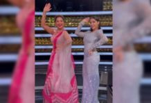 Madhuri Dixit and Nora Fatehi recreate Mera Piya Ghar Aaya