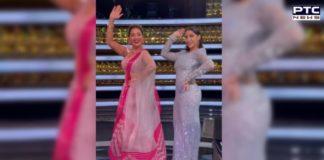 Madhuri Dixit and Nora Fatehi recreate Mera Piya Ghar Aaya