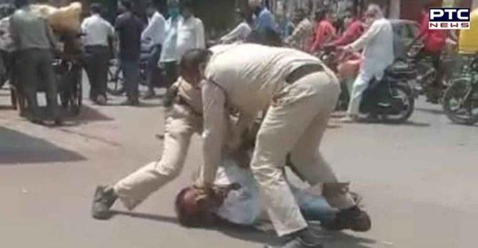 WATCH: 2 Madhya Pradesh policemen thrash man for not wearing mask