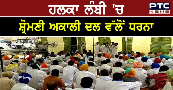 SAD protests against punjab congress Government and AAP