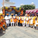 Nagar kirtan Sonipat to Gurudwara Sis Ganj Sahib dedicated to 400th prakash purab departs for next stage