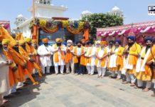 Nagar kirtan Sonipat to Gurudwara Sis Ganj Sahib dedicated to 400th prakash purab departs for next stage
