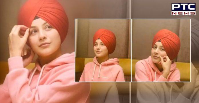 Shehnaaz Gill dons a turban, plays Diljit Dosanjh's song 'Sardaarji'