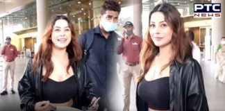 'Bas', says Shehnaaz Gill as paparazzi surround her as she returns to Mumbai