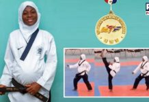 8 months pregnant woman not only plays Taekwondo but wins gold medal
