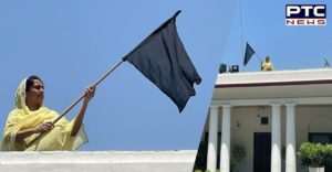 Former Union Minister Harsimrat Kaur Badal hoisted 'black flag' at her Delhi residence