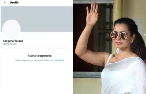 Kangana Ranaut's Twitter account 'permanently suspended' after comments on Mamata Banerjee