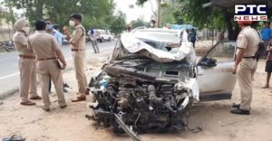 5 members of the same family killed in road accident on Mahilpur-Hoshiarpur road