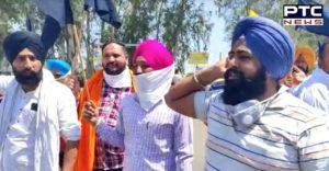 Kisan Andolan : Farmers burn PM Modi's effigy , hoist black flags in TarnTaran