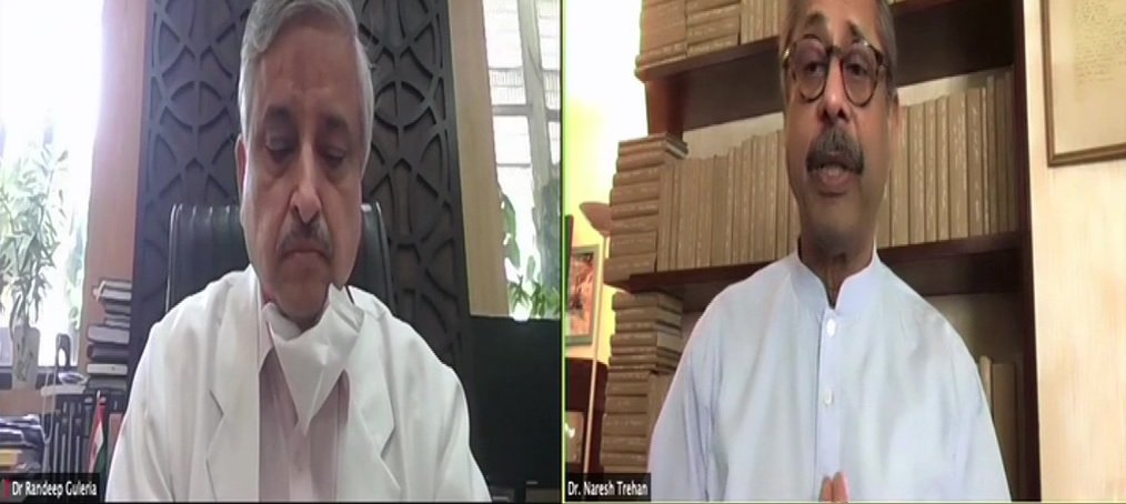 Coronavirus India: Amid COVID-19 vaccination, Dr. Naresh Trehan, during conversation with Randeep Guleria, asked people to isolate as they develop symptoms.