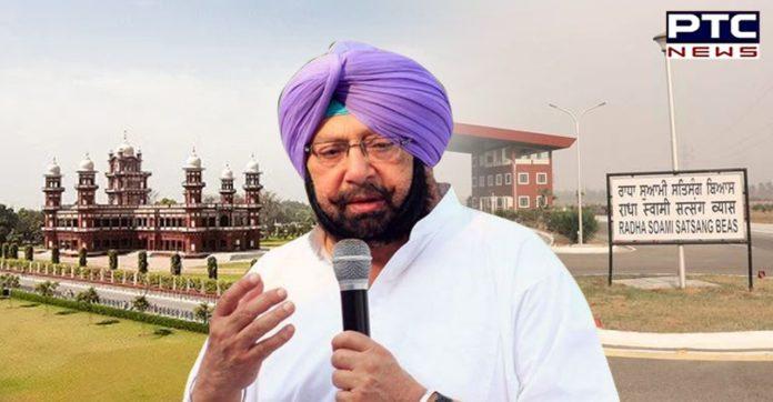 Punjab CM seeks support from Radha Soami Satsang Beas to combat coronavirus crisis
