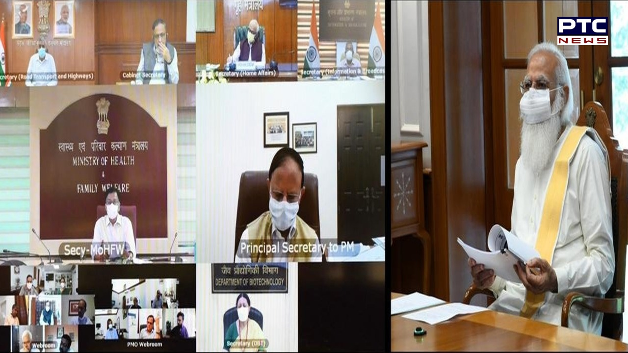 COVID-19: PM Narendra Modi chaired a high-level meeting to discuss the COVID-19 vaccination and coronavirus-related situation in the country.