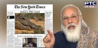 Fact Check: Did New York Times use Crocodile's pic to say PM Modi cried?