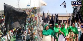 Farmers observe 'black day' to mark six months of agitation