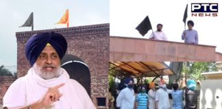 Sukhbir Singh Badal hoists Black Flag at his residence, urges Centre to repeal farm laws