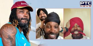 """Chris Gayle wears a turban for a shoot, """"Punjabi Daddy gonna be"""""""