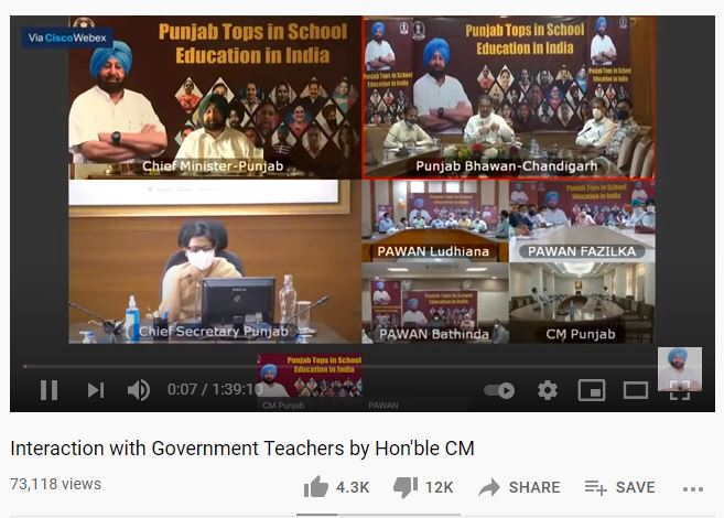 After Punjab School Education Board issued letter activity page monitoring, Captain Amarinder Singh faced backlash on YouTube.