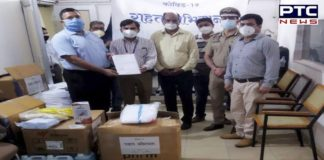 Raj Vidya Kender donates masks, PPE kits, gloves, face shields and sanitizers to prisoners and staff