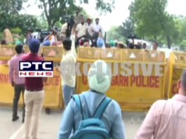 Para athletes protest against Punjab government for not giving jobs, detained