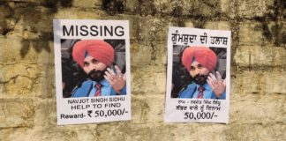 'Missing' posters of Navjot Singh Sidhu surface in Amritsar, promise Rs 50,000 reward