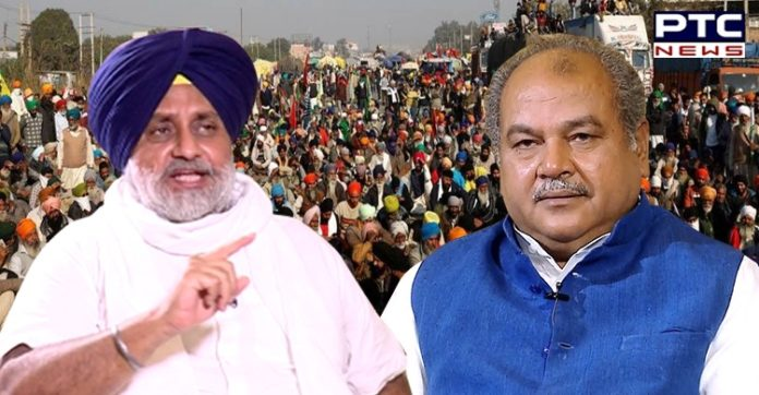 Sukhbir Singh Badal expresses shock at Agri minister's assertion that farm laws were in farmers' interest