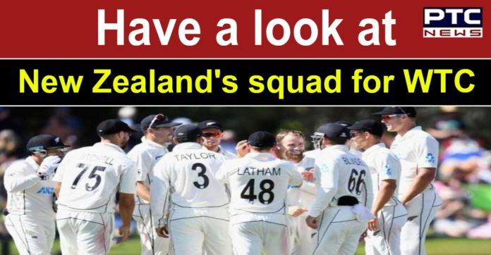 New Zealand announces squad for WTC final vs India