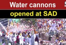 SAD attempts to gherao CM residence; police resort to water cannon