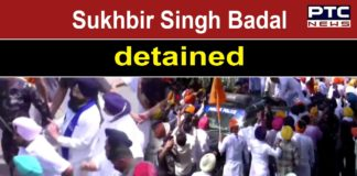 SAD President Sukhbir Singh Badal, leader Bikram Singh Majithia, and others detained