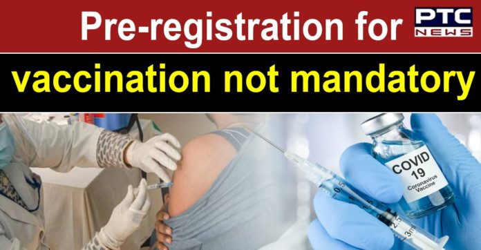 Online registration or appointment not mandatory to avail COVID-19 vaccine: Centre