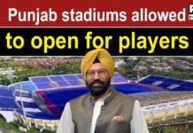Rana Sodhi directs to open Punjab stadiums for national and international players