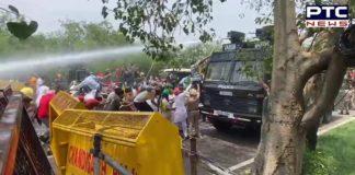 Farmers break barricades at Chandigarh-Mohali border, march towards Raj Bhawan