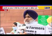 Akali-BSP MPs protest outside Parliament