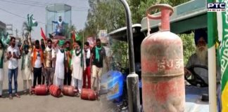 Farmers' protest across India against fuel prices hike
