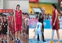 7ft 14-year-old Chinese basketball player Zhang Ziyu draws anticipation from netizens