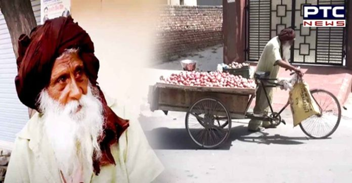 101-year-old Harbans Singh pulls load of 200kg in Punjab for grandchildren's education