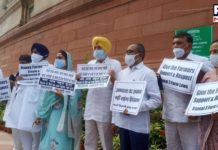Monsoon Session 2021: SAD continues to protest against farm laws outside Parliament