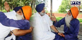 Sukhbir Singh Badal visits Baba Labh Singh Ji at Matka Chowk in Chandigarh