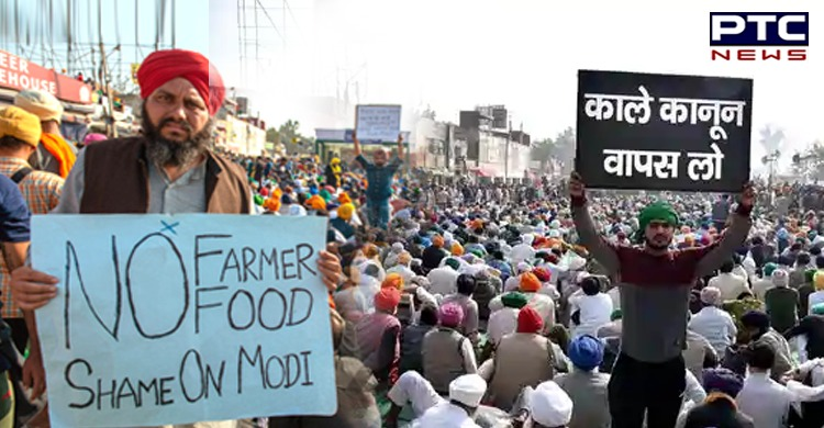 8 months on, farmers' protest over three 'black laws' continues unabated -  PTC News